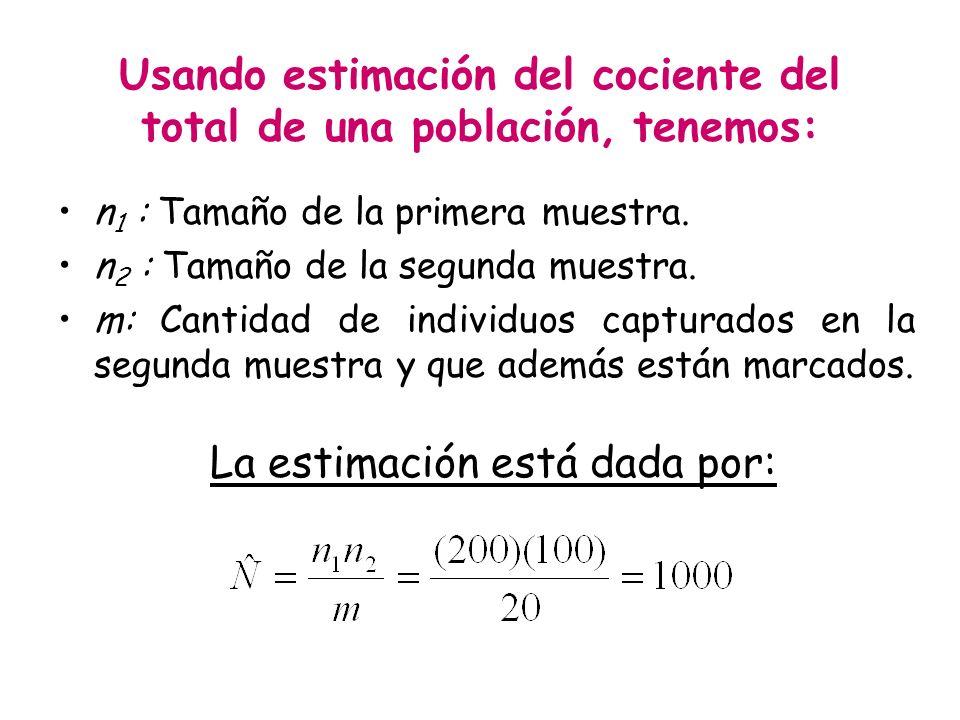 Usando estimación del cociente del total de una población, tenemos: