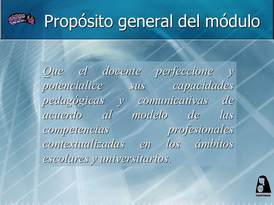 Propósito general del módulo