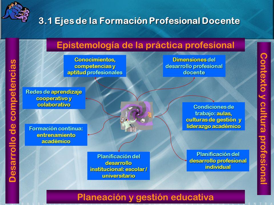 3.1 Ejes de la Formación Profesional Docente