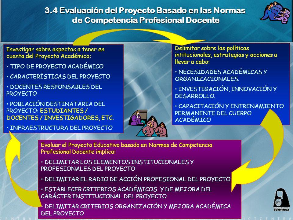 3.4 Evaluación del Proyecto Basado en las Normas