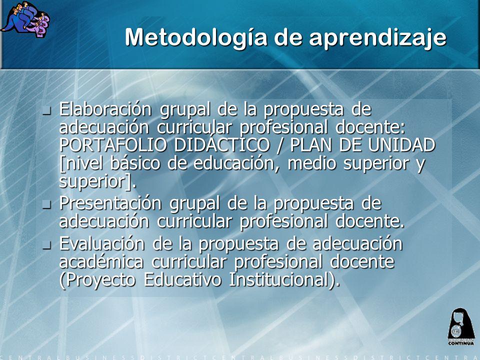 Metodología de aprendizaje