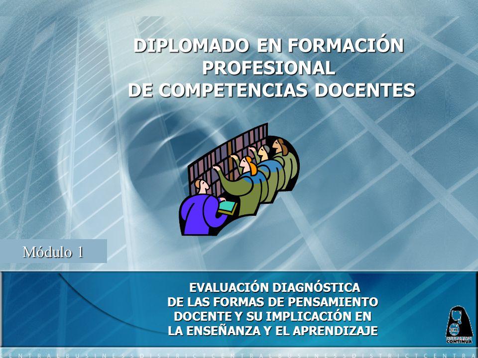 DIPLOMADO EN FORMACIÓN PROFESIONAL DE COMPETENCIAS DOCENTES