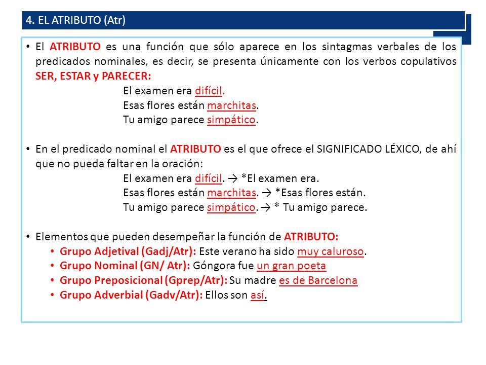 4. EL ATRIBUTO (Atr)
