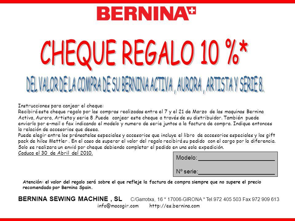 info@macogir.com http://es.bernina.com