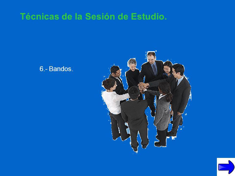 Técnicas de la Sesión de Estudio.