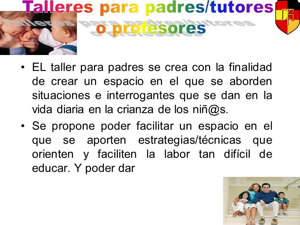Talleres para padres/tutores