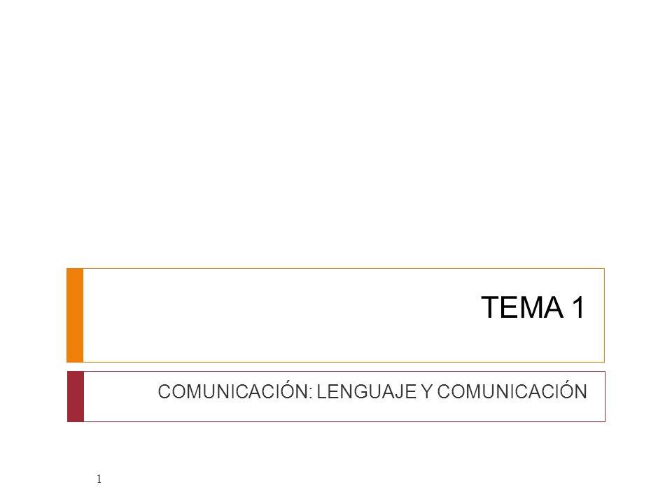 COMUNICACIÓN: LENGUAJE Y COMUNICACIÓN