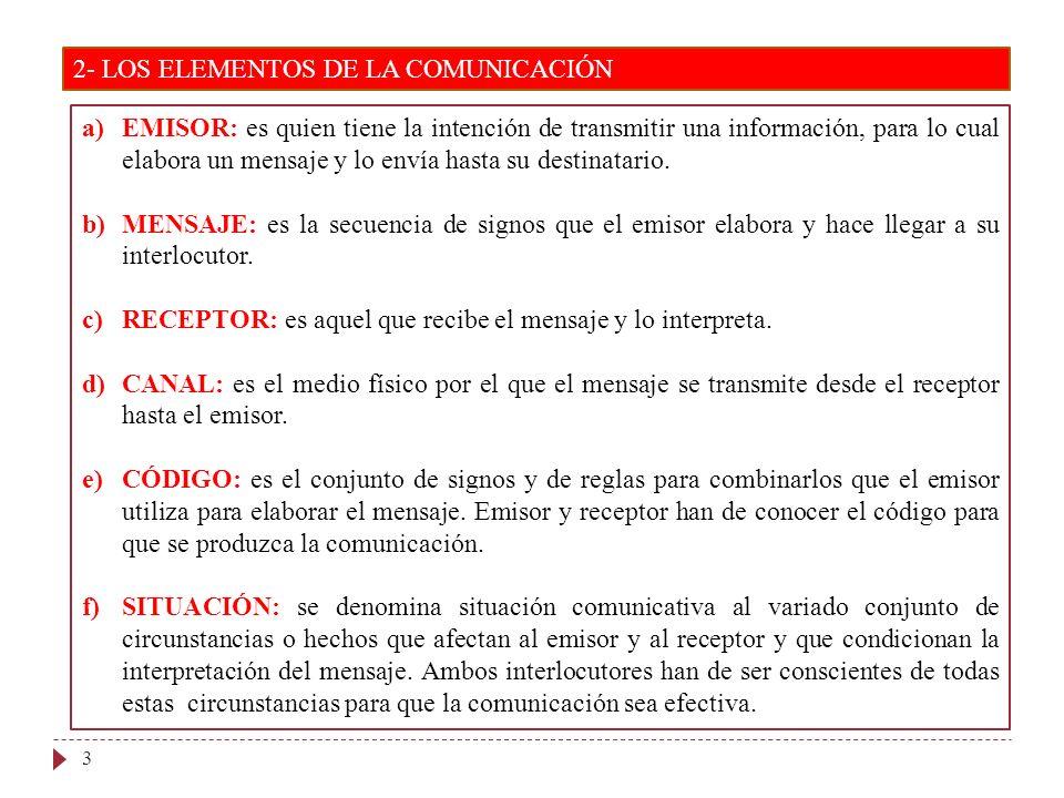 2- LOS ELEMENTOS DE LA COMUNICACIÓN