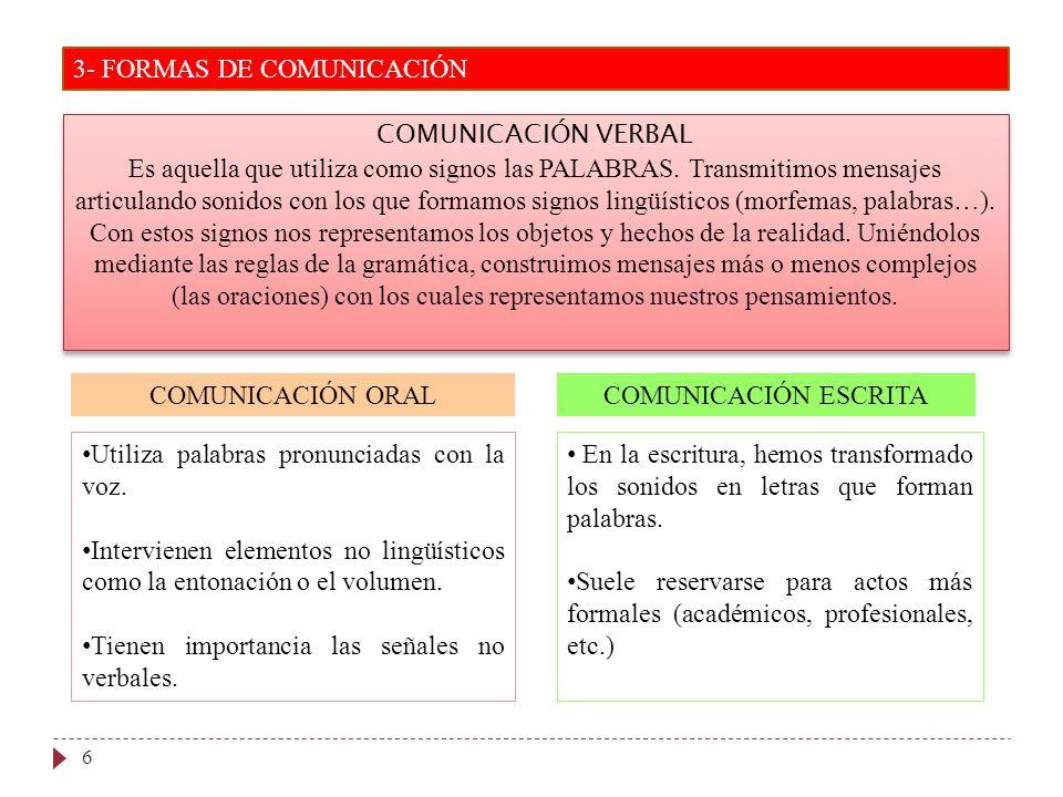 3- FORMAS DE COMUNICACIÓN