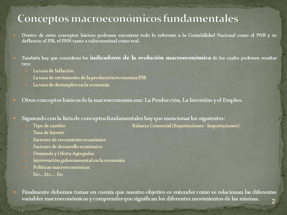 Conceptos macroeconómicos fundamentales