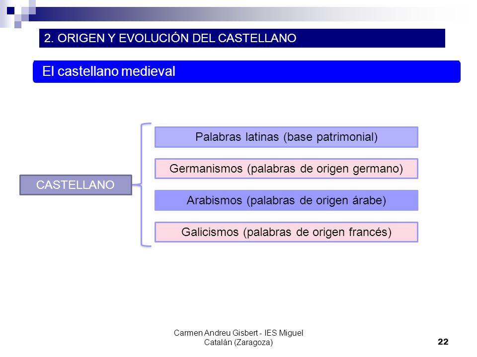 El castellano medieval
