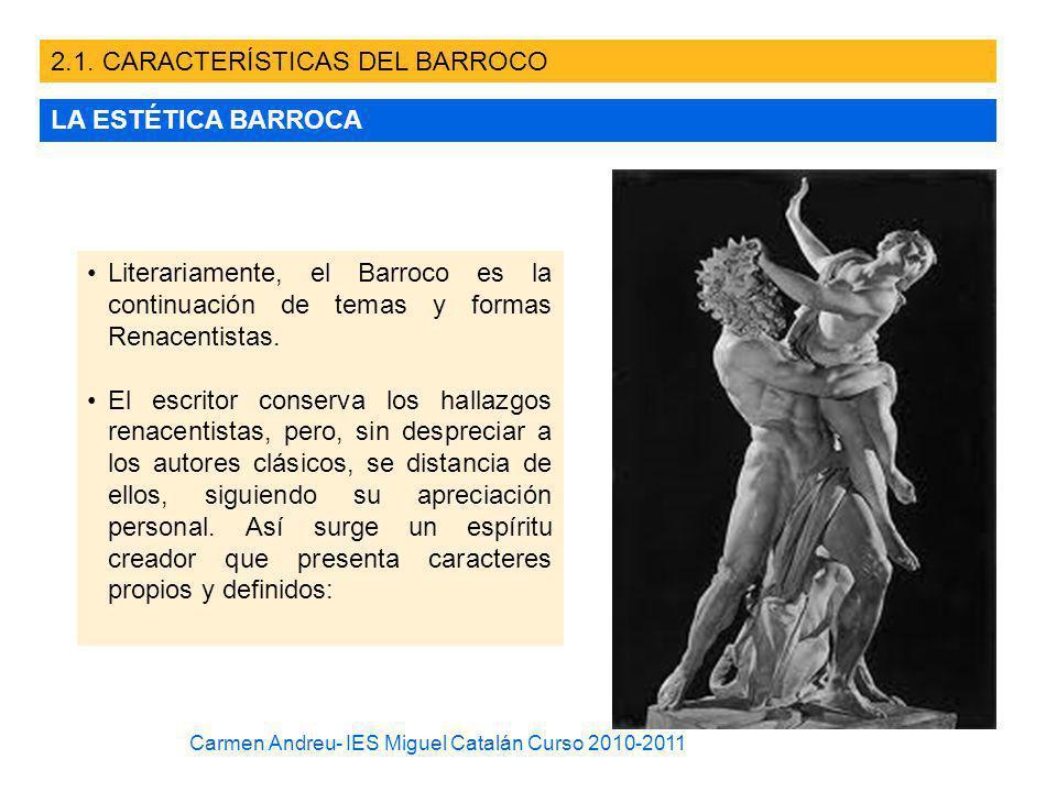 2.1. CARACTERÍSTICAS DEL BARROCO