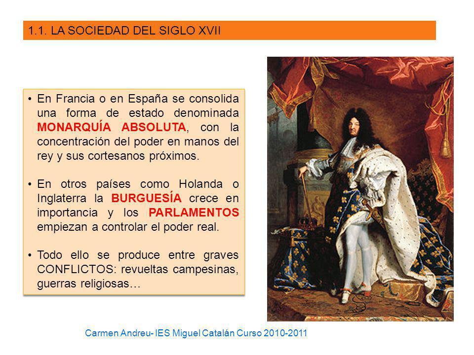 1.1. LA SOCIEDAD DEL SIGLO XVII