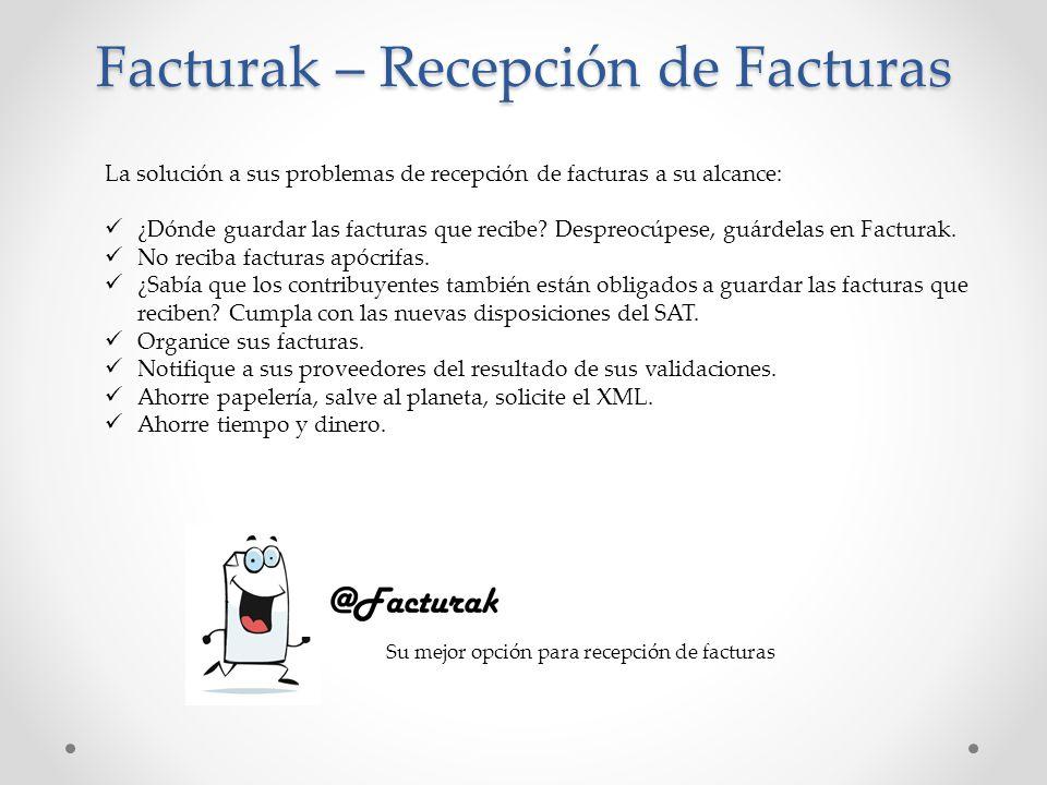 Facturak – Recepción de Facturas