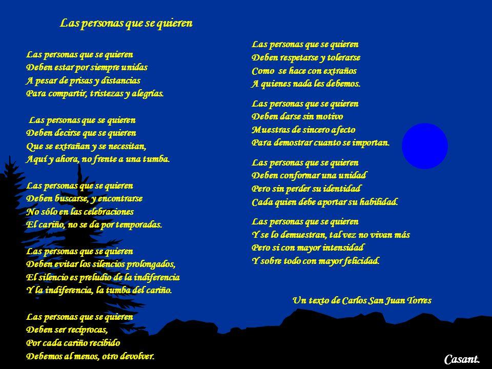 Un texto de Carlos San Juan Torres Las personas que se quieren