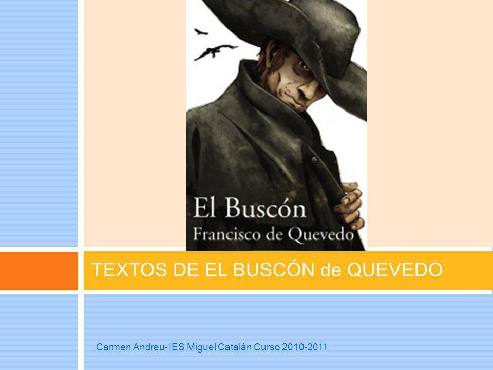 TEXTOS DE EL BUSCÓN de QUEVEDO