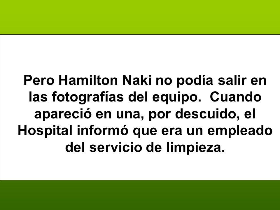 Pero Hamilton Naki no podía salir en las fotografías del equipo