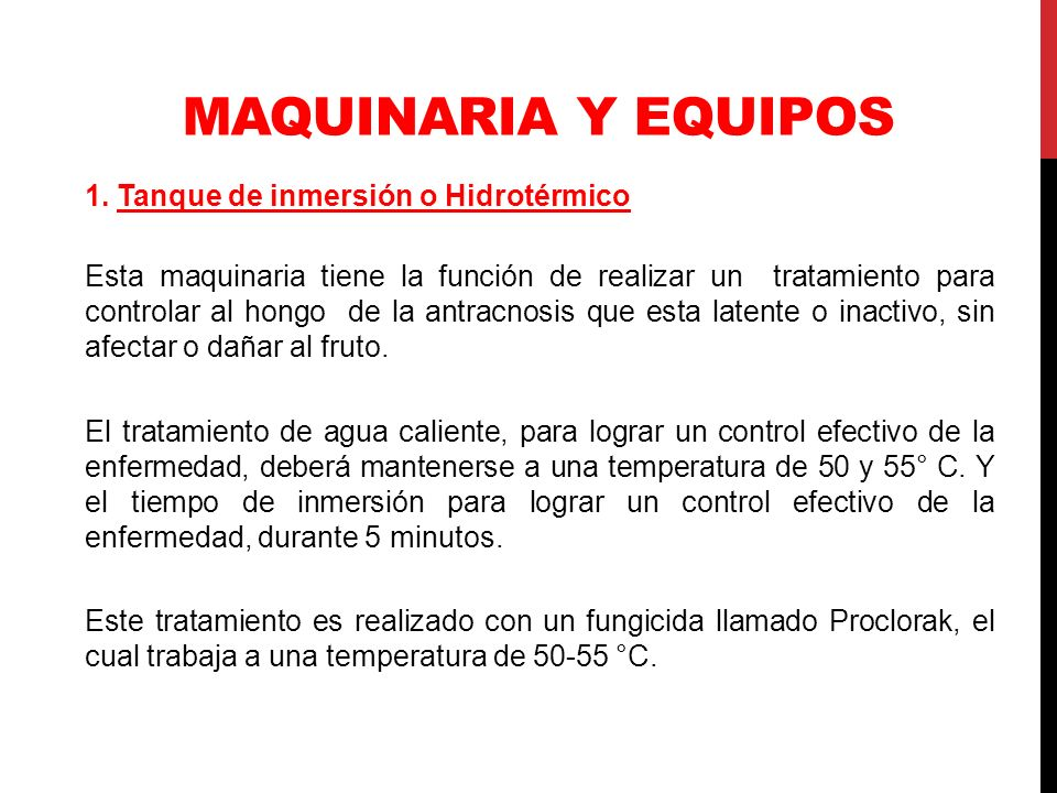 MAQUINARIA Y EQUIPOS