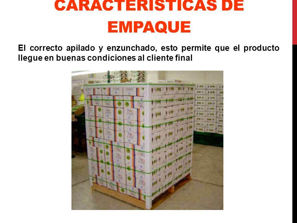 CARACTERÍSTICAS DE EMPAQUE