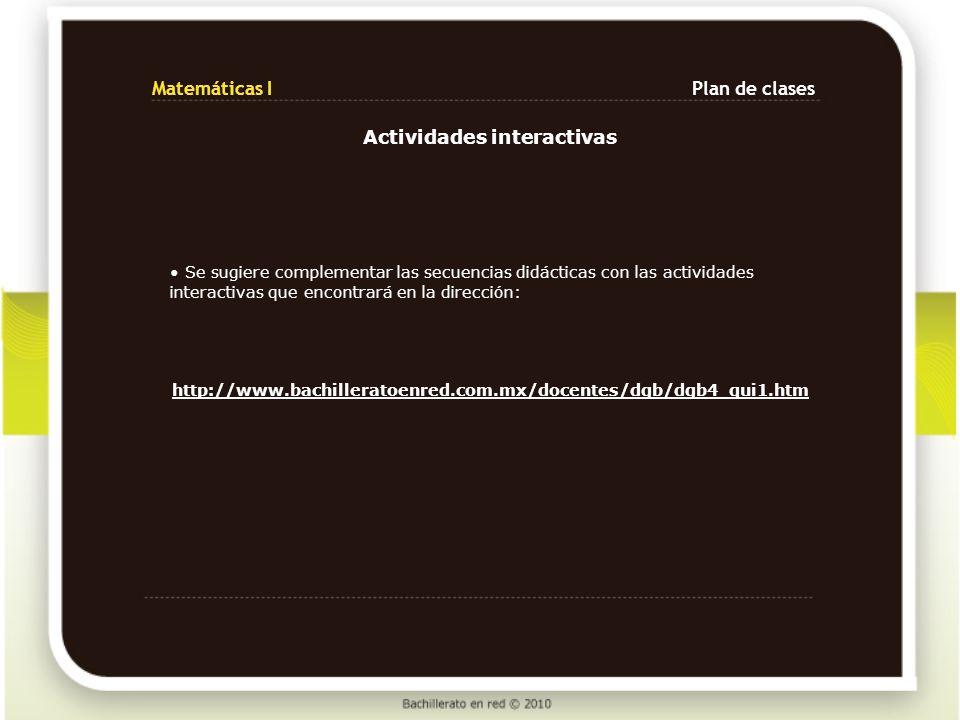 Actividades interactivas