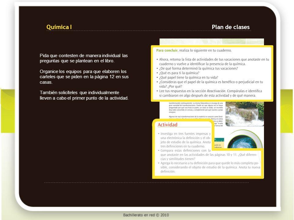 Química I Plan de clases