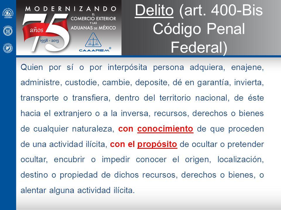 Delito (art. 400-Bis Código Penal Federal)
