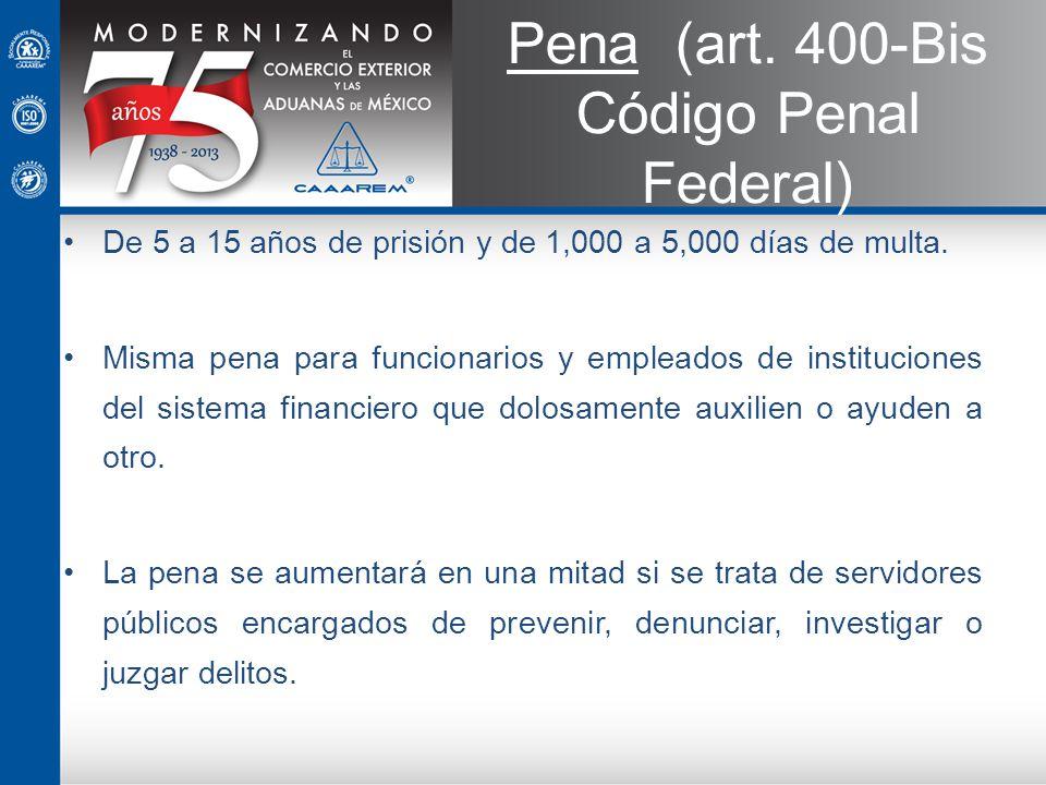 Pena (art. 400-Bis Código Penal Federal)