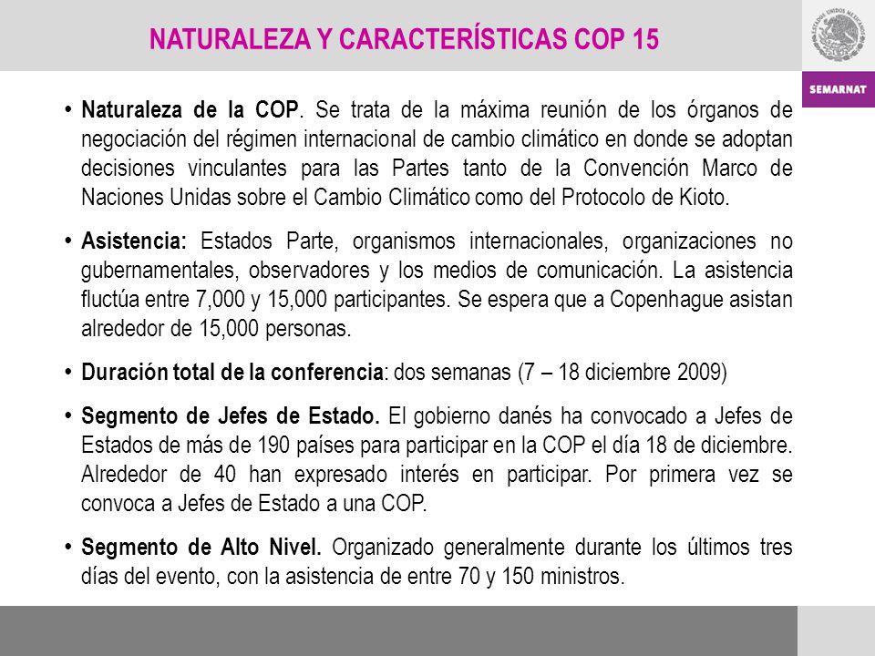NATURALEZA Y CARACTERÍSTICAS COP 15