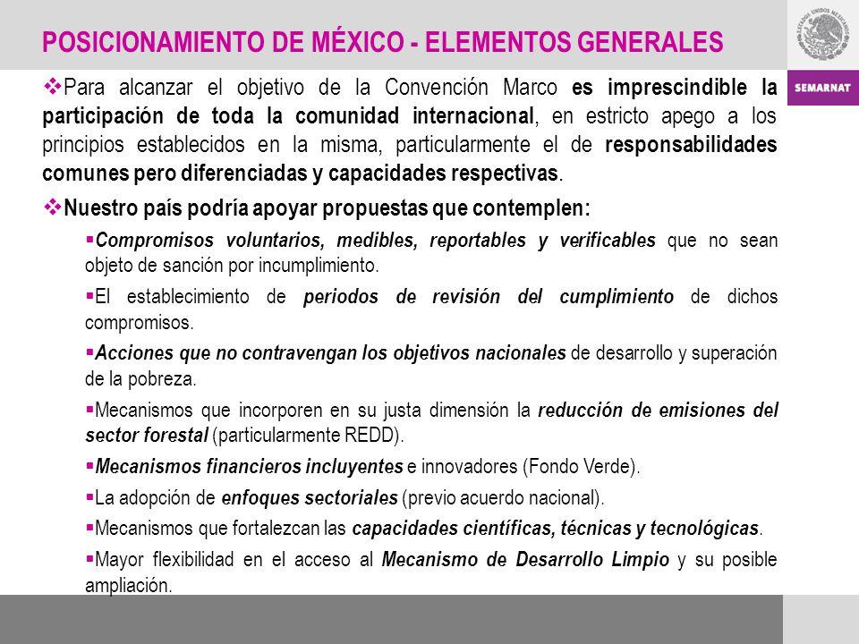 POSICIONAMIENTO DE MÉXICO - ELEMENTOS GENERALES