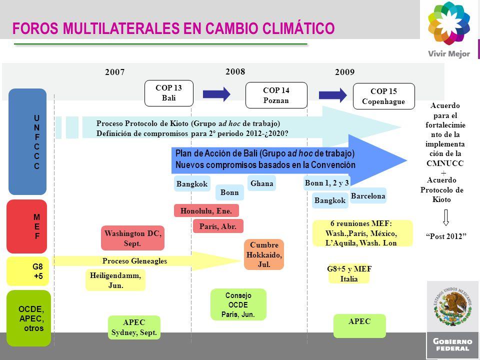 FOROS MULTILATERALES EN CAMBIO CLIMÁTICO