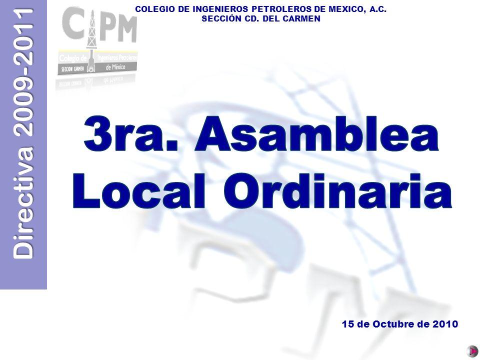 3ra. Asamblea Local Ordinaria 15 de Octubre de 2010