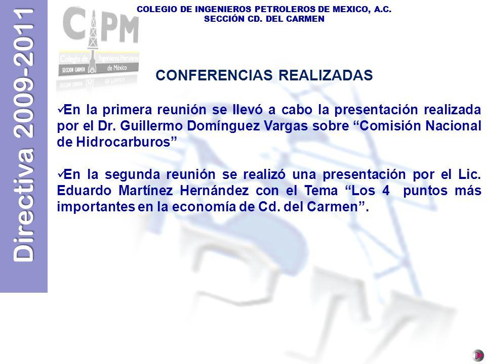 CONFERENCIAS REALIZADAS