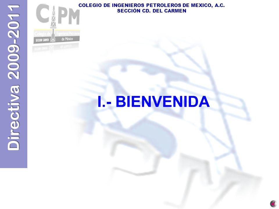 I.- BIENVENIDA