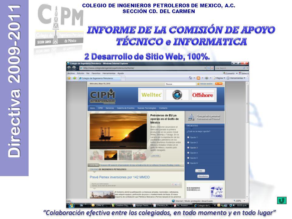 INFORME DE LA COMISIÓN DE APOYO TÉCNICO e INFORMATICA