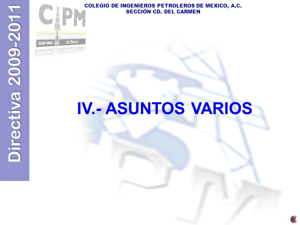 IV.- ASUNTOS VARIOS