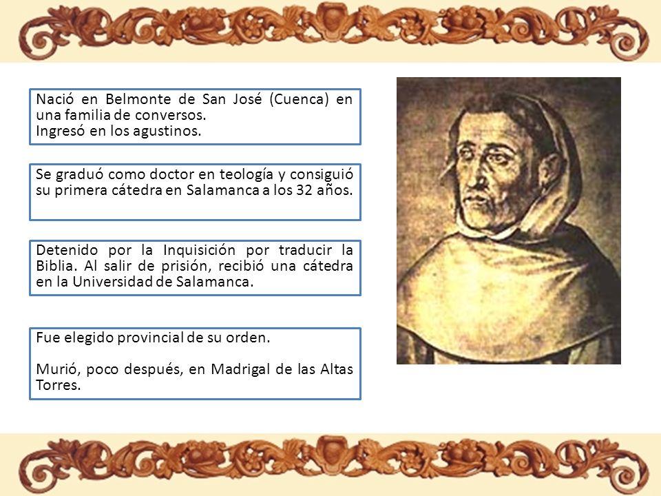 Nació en Belmonte de San José (Cuenca) en una familia de conversos.