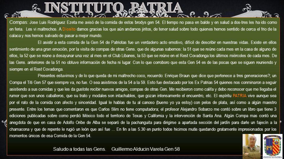 INSTITUTO PATRIA n.