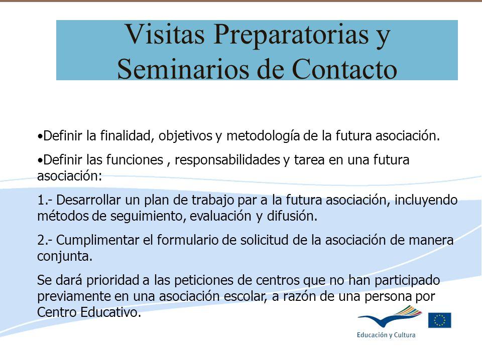 Visitas Preparatorias y Seminarios de Contacto