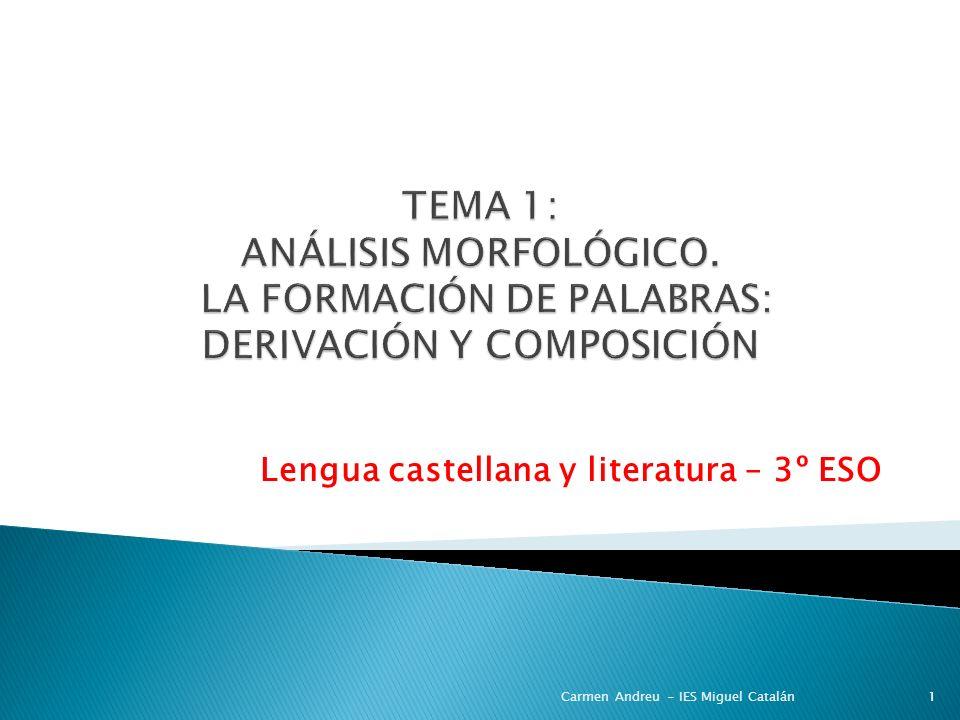 Lengua castellana y literatura – 3º ESO
