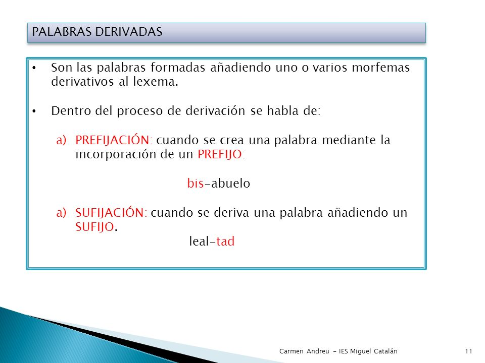 Dentro del proceso de derivación se habla de: