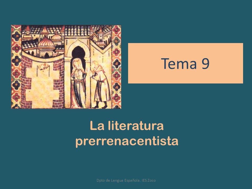 La literatura prerrenacentista