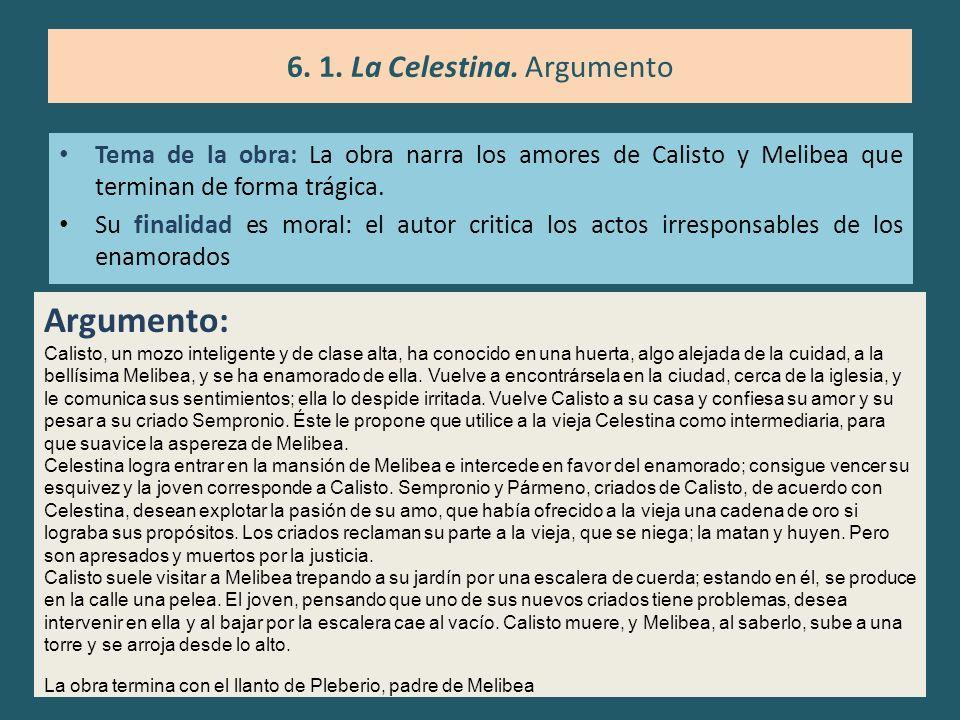 6. 1. La Celestina. Argumento