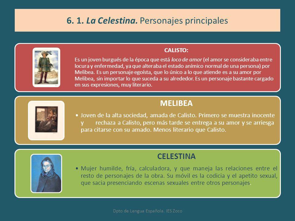 6. 1. La Celestina. Personajes principales