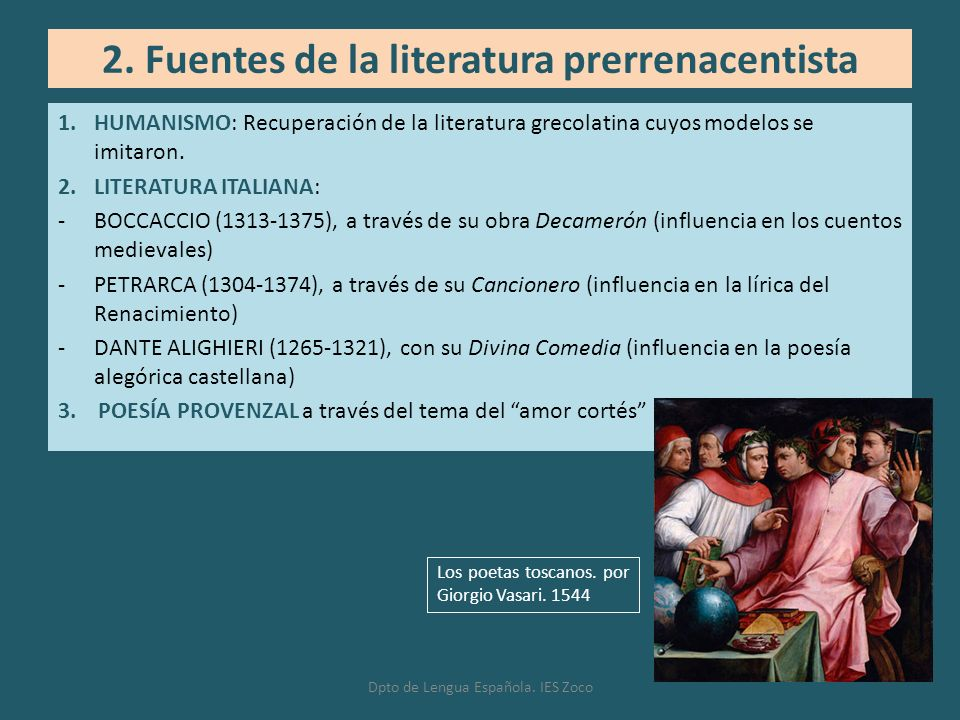 2. Fuentes de la literatura prerrenacentista