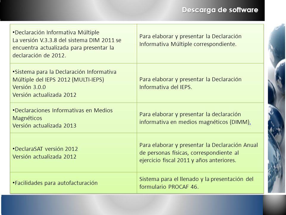 Descarga de software