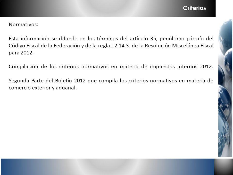 Criterios Normativos: