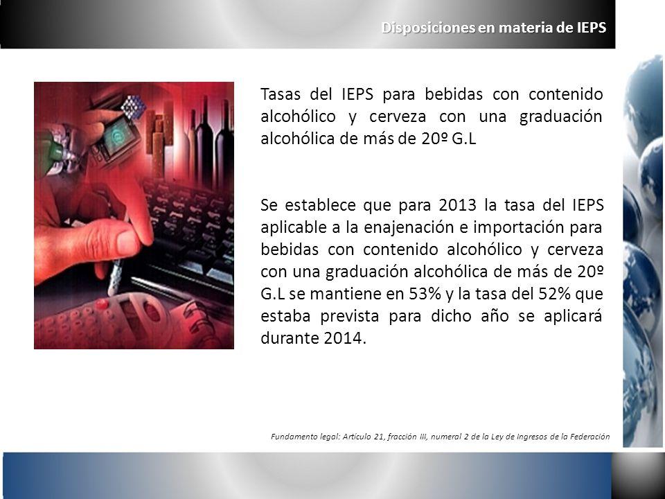 Disposiciones en materia de IEPS