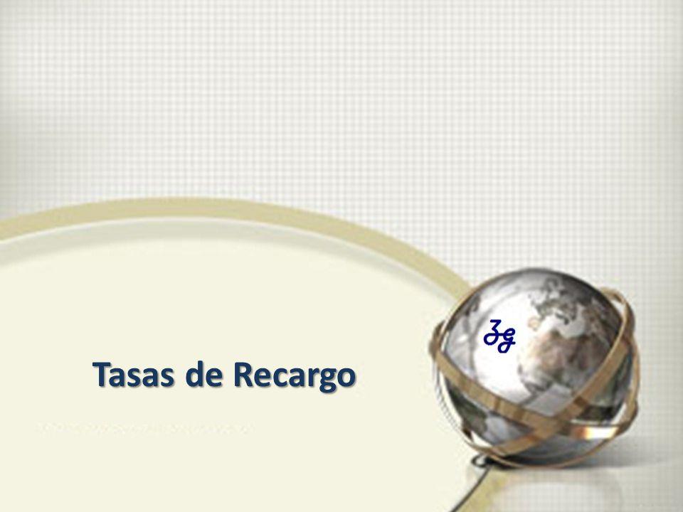 Tasas de Recargo
