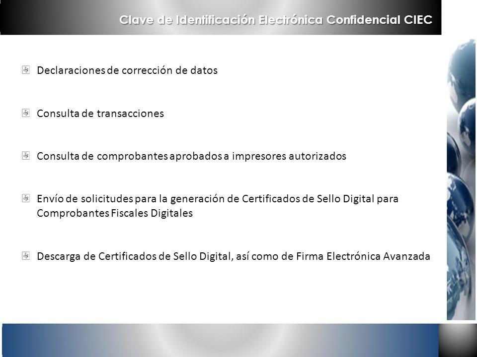 Clave de Identificación Electrónica Confidencial CIEC