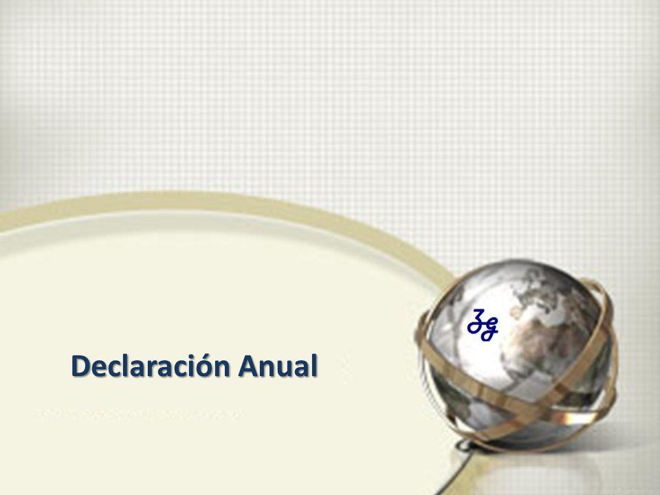 Declaración Anual